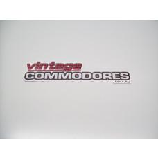 VINTAGE COMMODORES QUARTER WINDOW STICKER VCS01