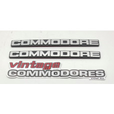 VH COMMODORE FRONT BUMPER BADGES LFP REPRODUCTION AFTERMARKET  AM LFPVHBB