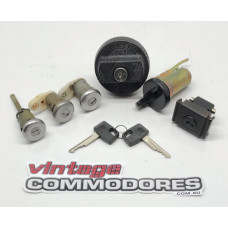 VL SEDAN COMPLETE LOCK SET WITH TWO GENUINE GM KEYS AND LOCKING FUEL CAP GMLOCKNCAPSETVL